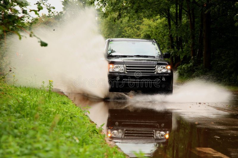 洪水速度 免版税库存图片