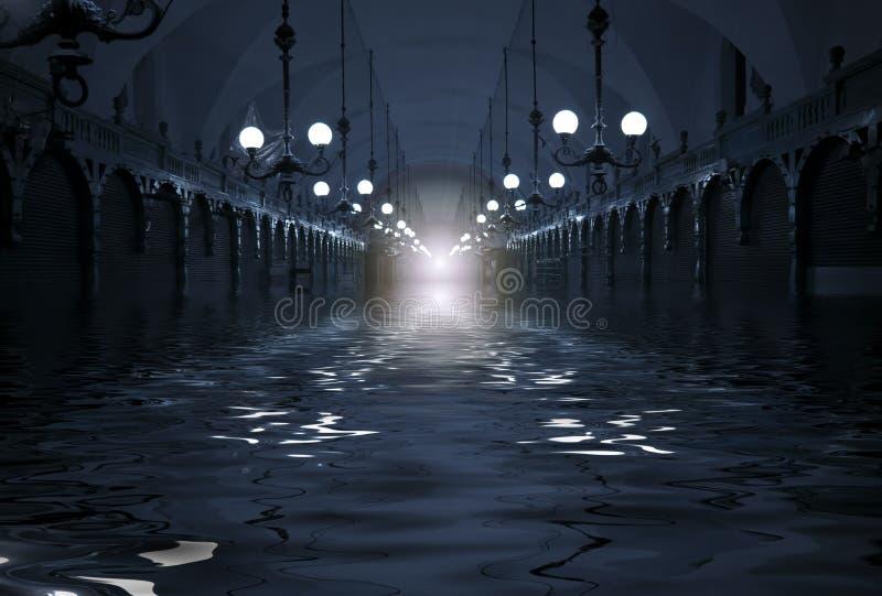 洪水隧道 库存图片