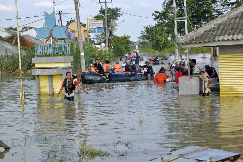 洪水karawang 库存图片