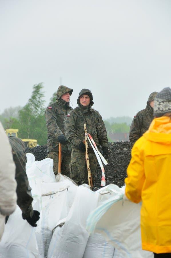 洪水klodnica波兰河西里西亚zabrze 图库摄影