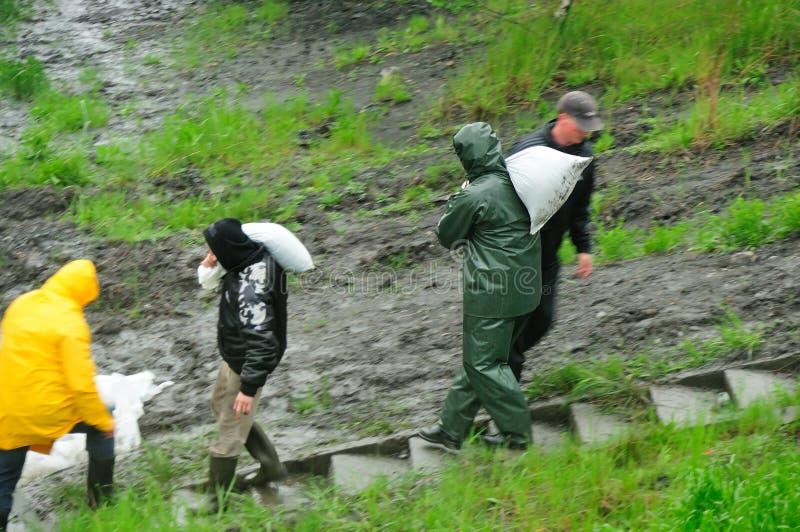 洪水klodnica波兰河西里西亚zabrze 库存照片
