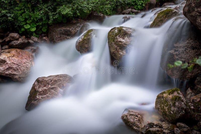 洪流在阿尔卑斯 图库摄影