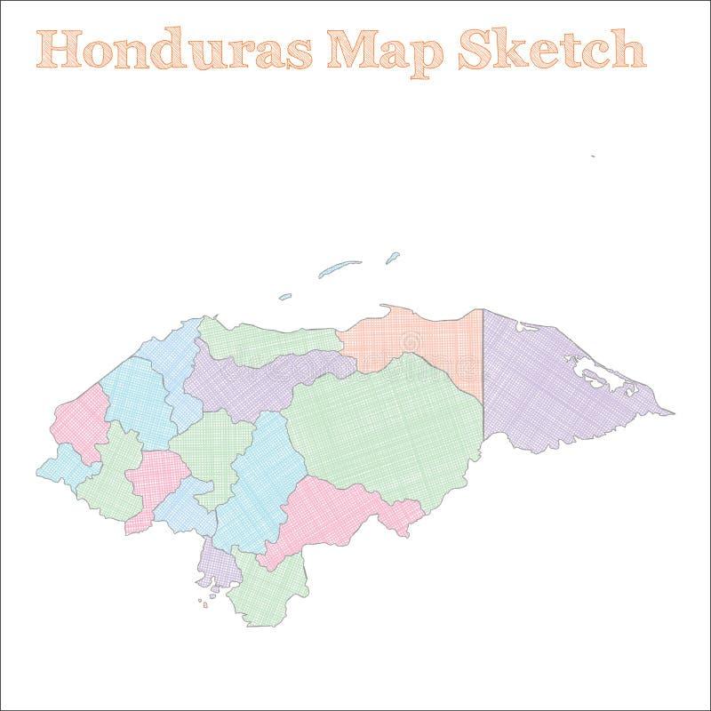 洪都拉斯地图 皇族释放例证
