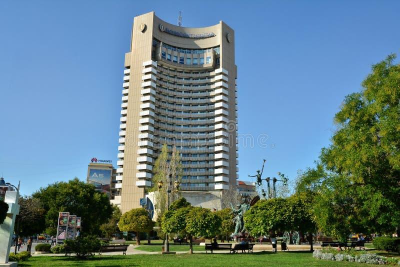 洲际的旅馆在布加勒斯特,罗马尼亚 库存照片