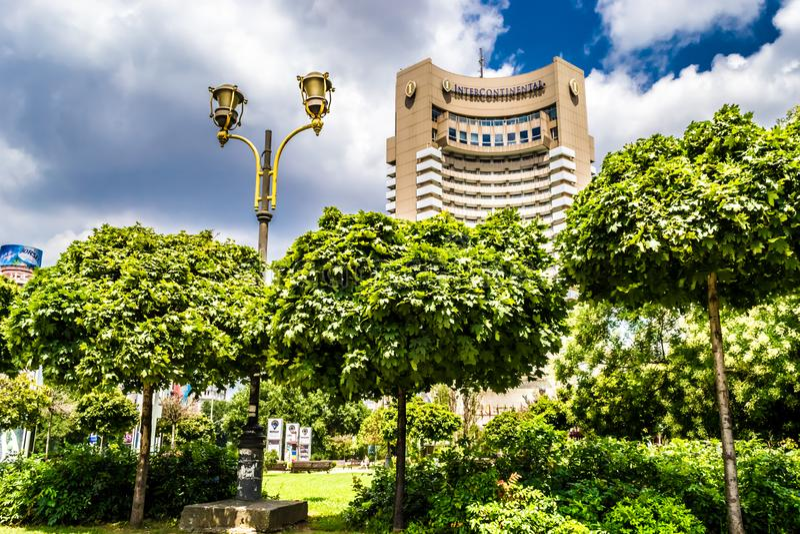 洲际的旅馆 免版税库存照片