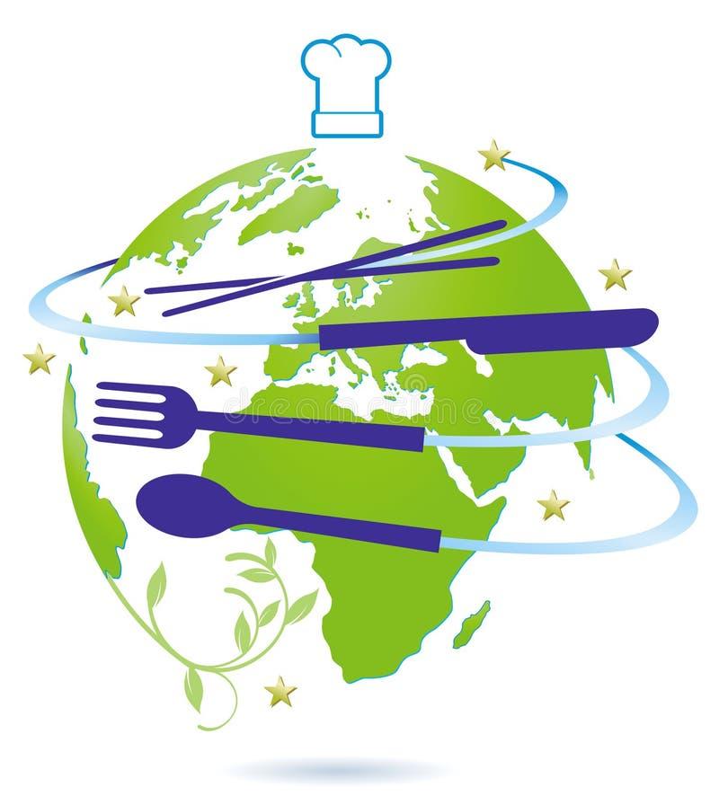 活动国际餐馆 皇族释放例证