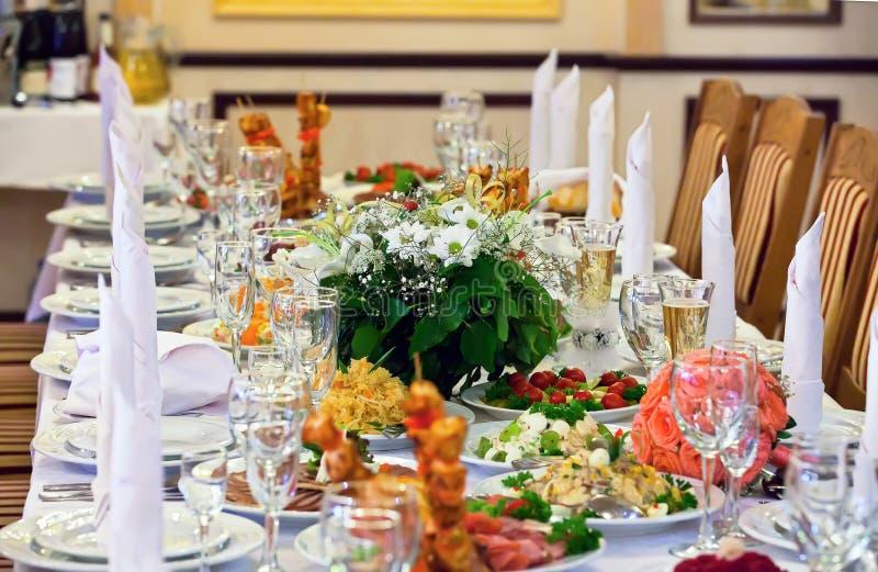 活动当事人接收集合表婚礼 免版税库存图片