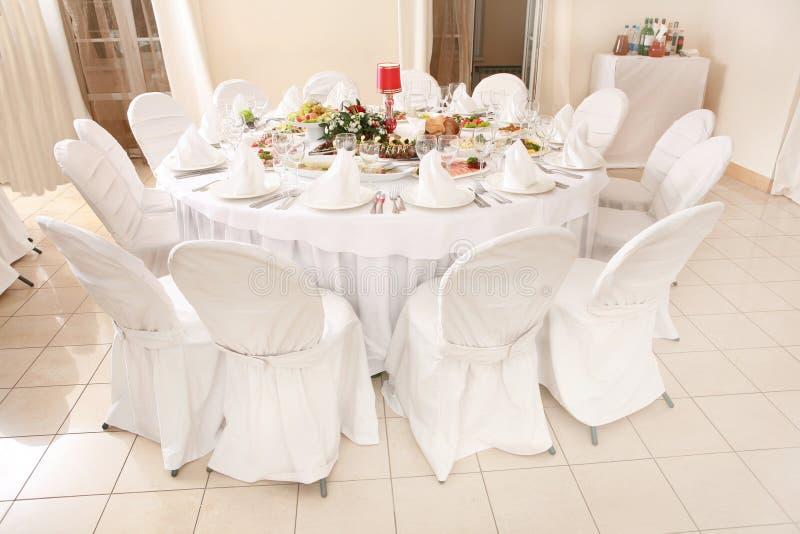 活动当事人接收集合表婚礼 图库摄影