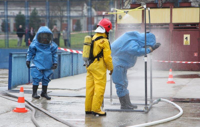 活动消防员 库存图片