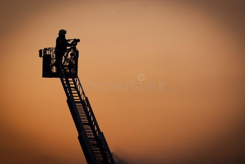 活动消防队员 免版税图库摄影