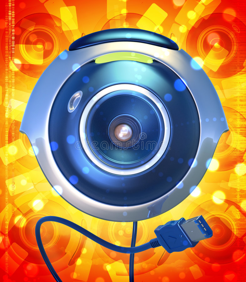活动照相机万维网 库存例证