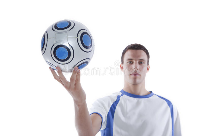 活动球员足球年轻人 库存照片