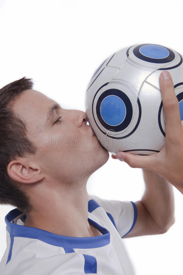 活动球员足球年轻人 免版税库存照片