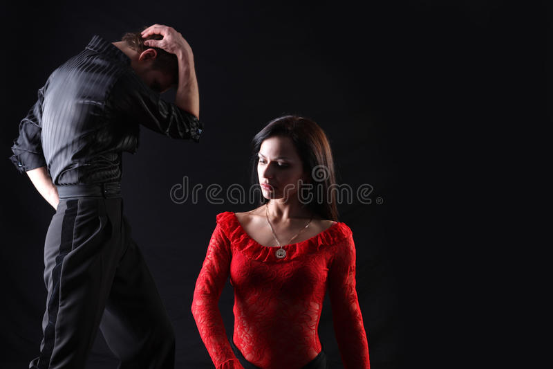 活动的舞蹈演员 免版税库存图片