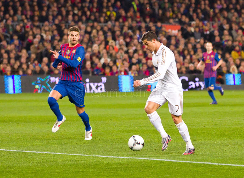 活动的Cristiano Ronaldo 图库摄影