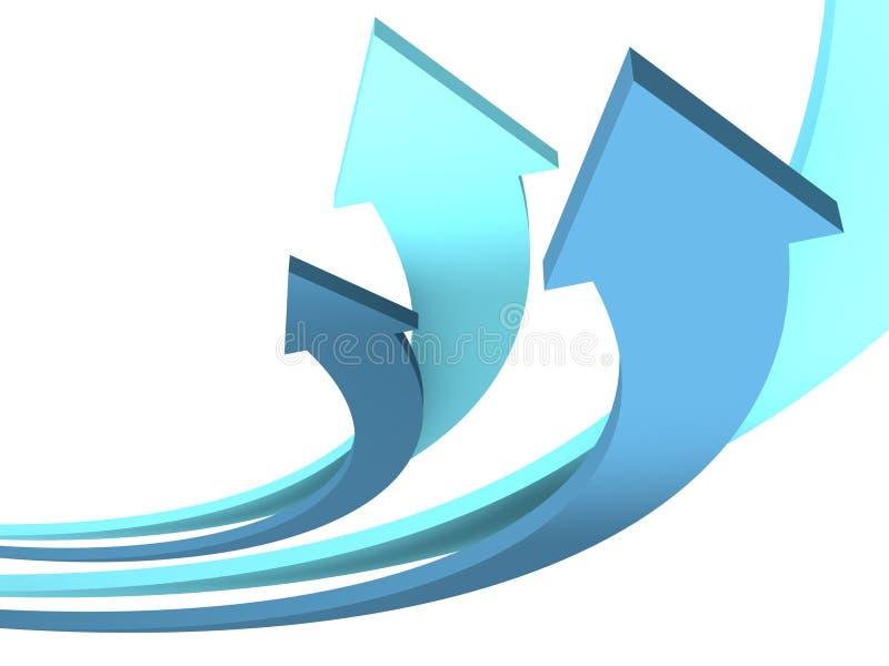 活动箭头背景蓝色 向量例证