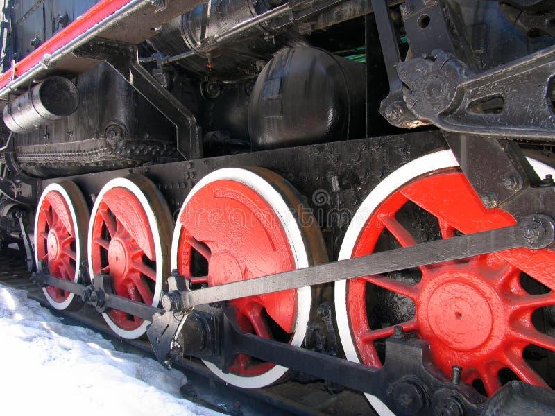 活动老红色轮子 库存照片