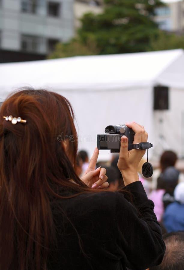 活动记录妇女 库存照片