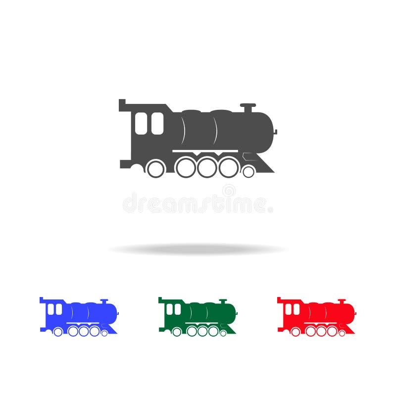 活动象 运输元素的元素在多色的象的 优质质量图形设计象 简单的象为 向量例证
