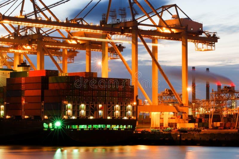 活动集装箱码头 免版税图库摄影