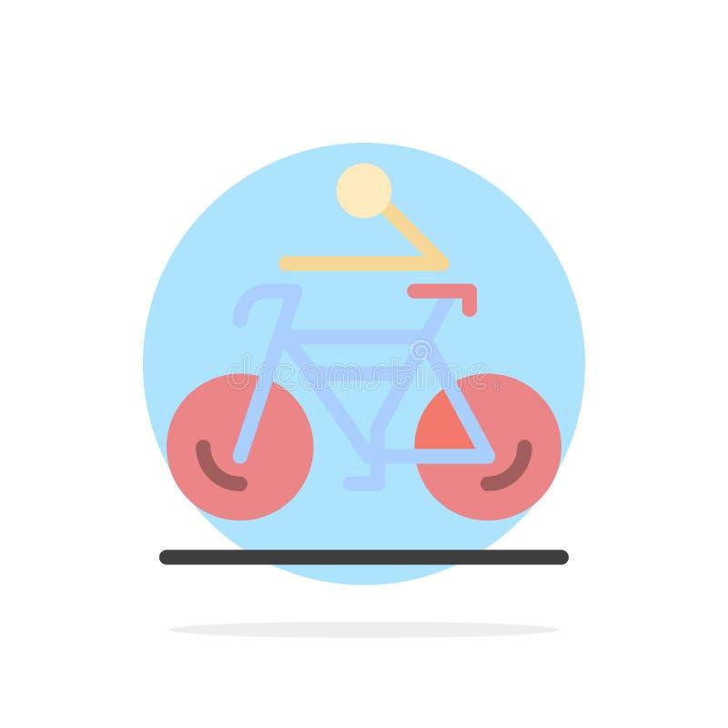 活动,自行车,自行车,骑自行车,循环的抽象圈子背景平的颜色象 向量例证