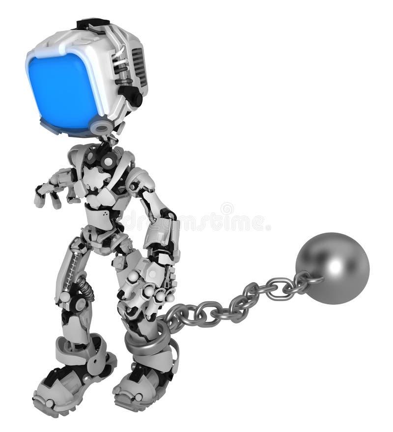 活屏幕机器人,球链子 库存例证