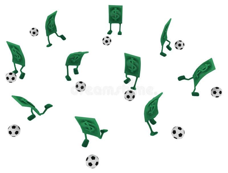 活现金,橄榄球运动 向量例证