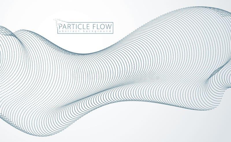 流动一些的微粒,动态声波 3d illust 向量例证