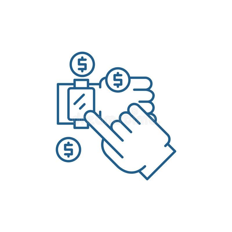 流动付款排行象概念 流动付款平的传染媒介标志,标志,概述例证 皇族释放例证