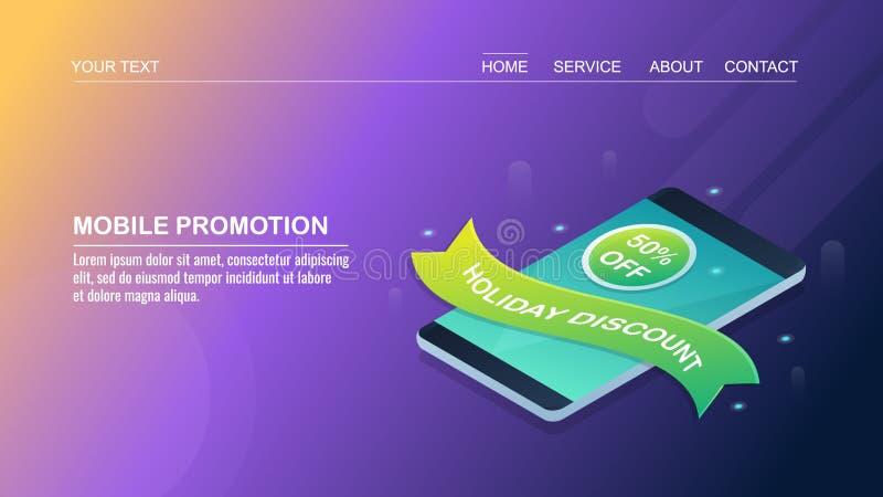 流动促进,网上电子商务顺序,互联网媒介广告,网络购物,等量设计观念 库存例证
