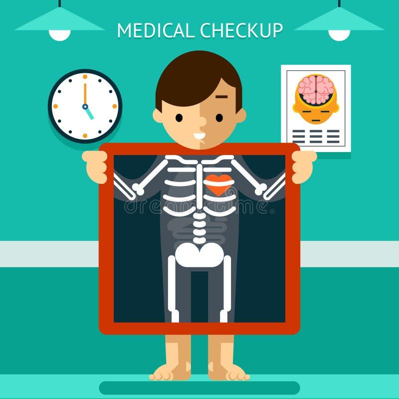 流动健康mHealth、诊断和监视  向量例证