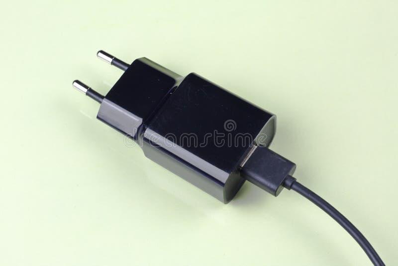 流动充电器顶视图 免版税库存照片