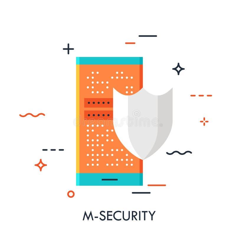 流动安全平的概念 库存例证