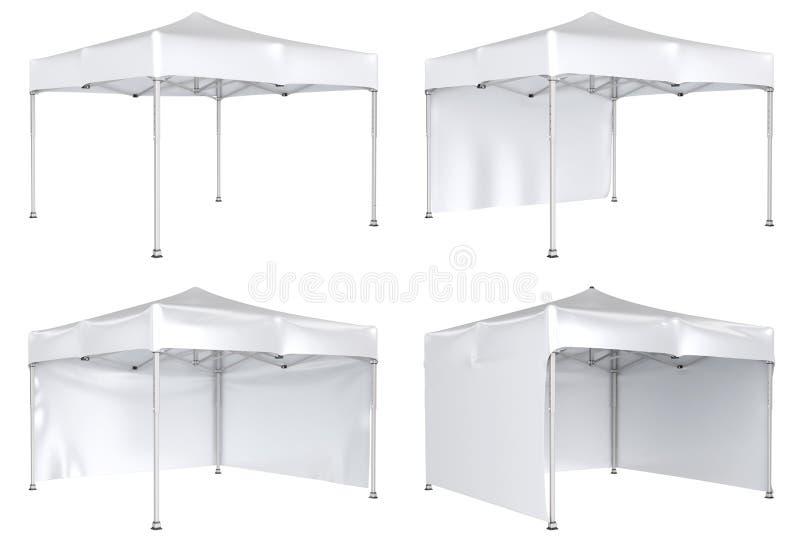 流动帐篷广告大门罩 增进广告室外事件商业展览 皇族释放例证