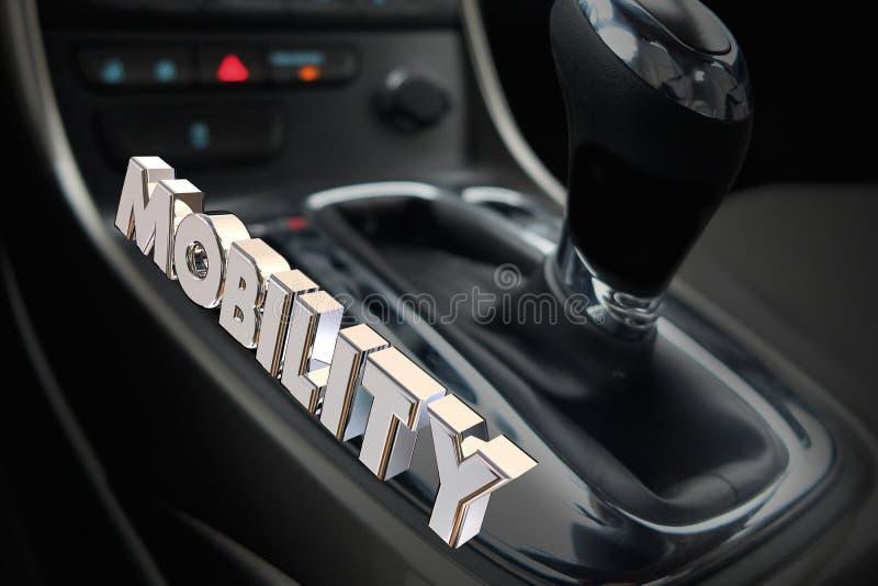 流动性使换中档汽车车运输词3d Illustrat 库存例证
