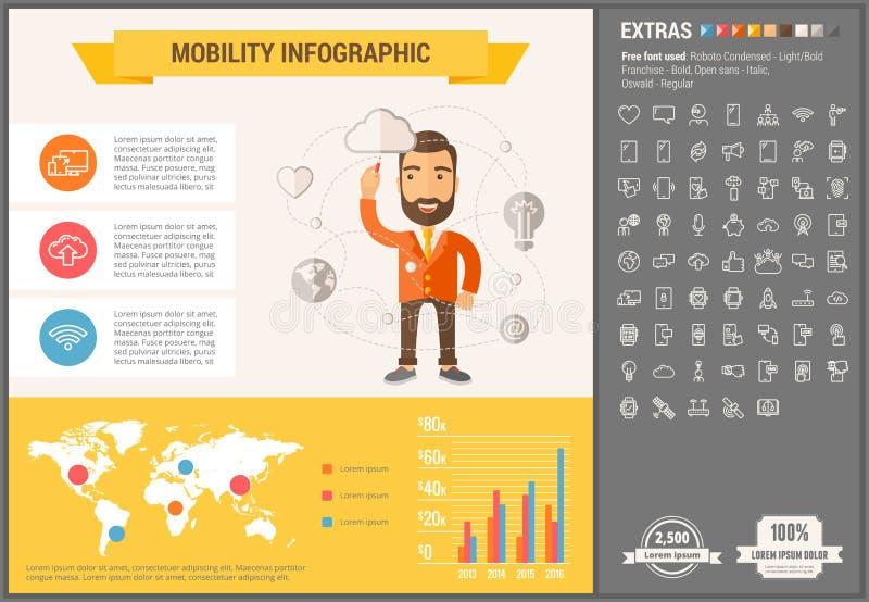 流动性平的设计Infographic模板 库存例证