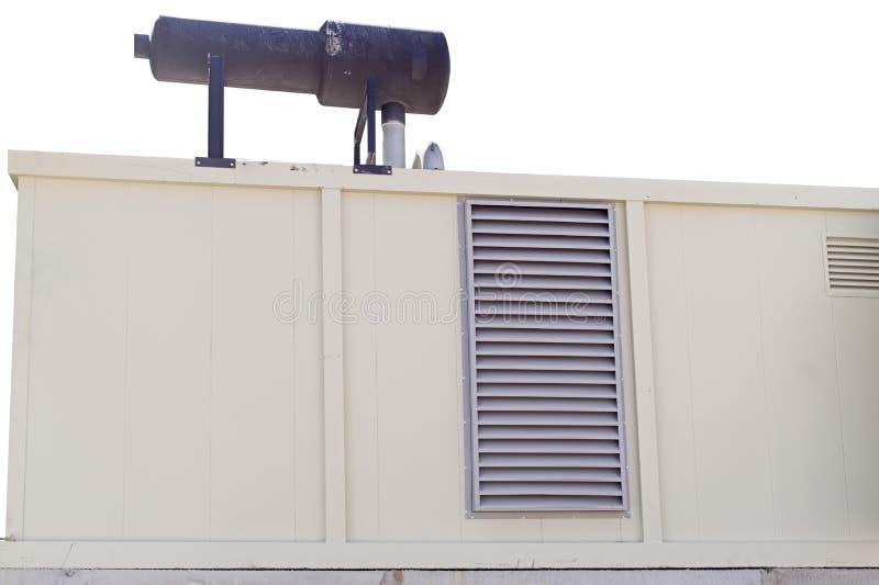 流动柴油发电器为的紧急电力使用 库存图片