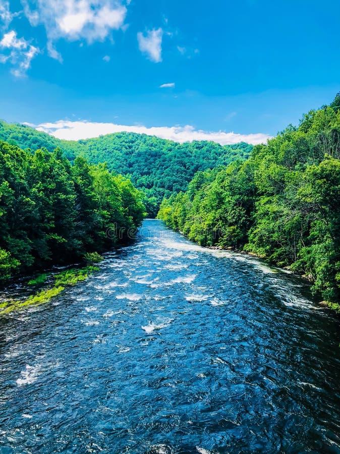 流动的山河 图库摄影