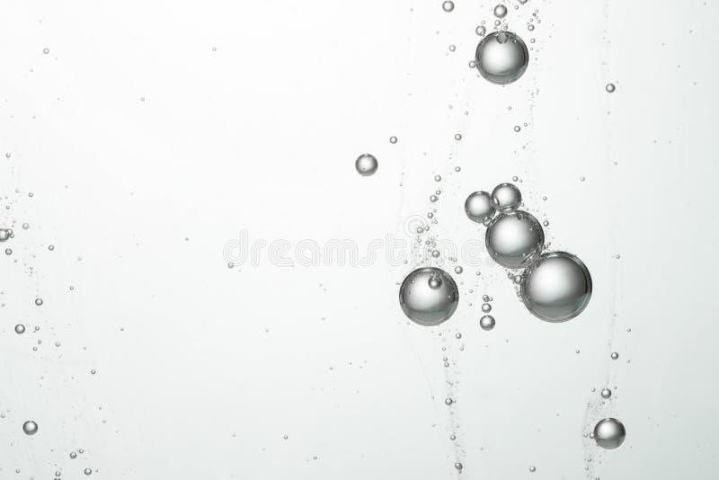 流动的水泡影 库存照片