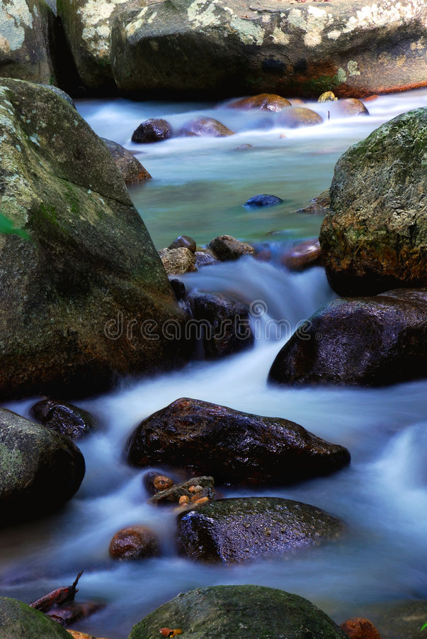 流动的水 库存照片