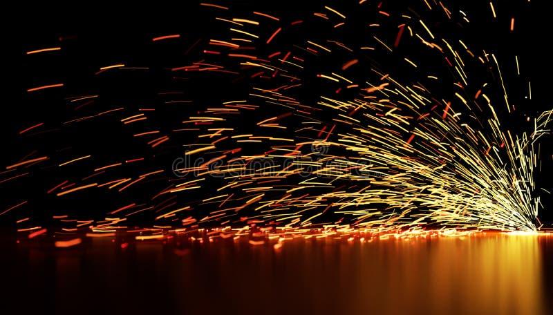 流动的火花 库存图片