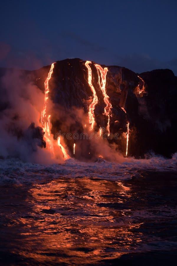 流动的熔岩 免版税库存图片