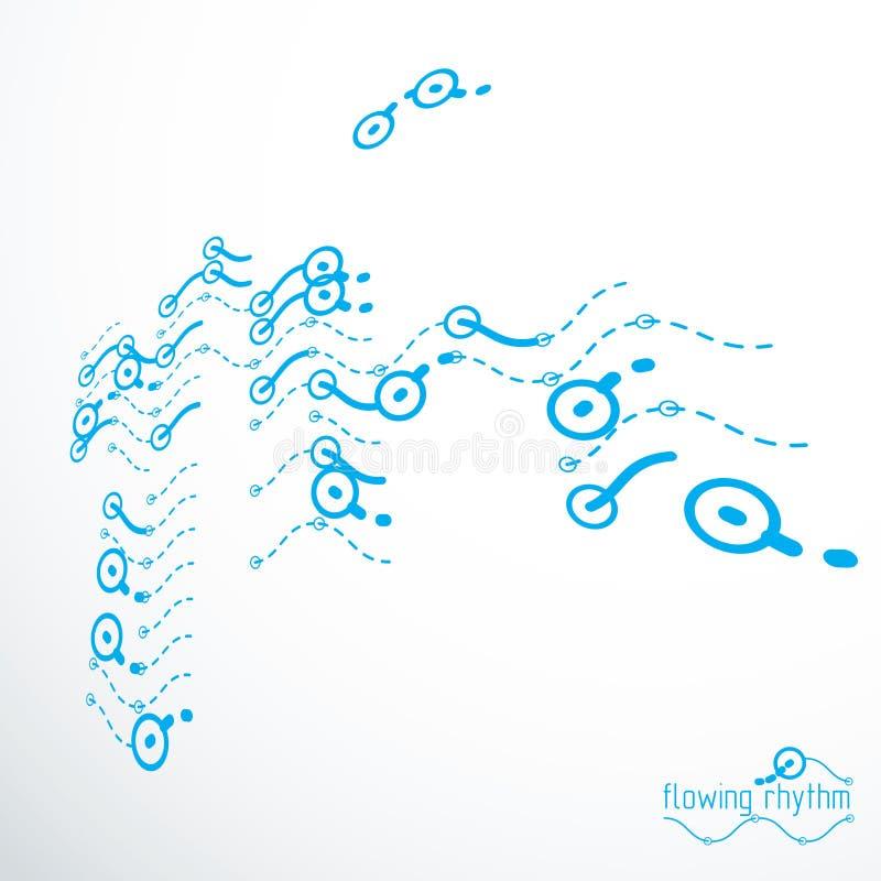 流动的节奏,抽象波浪排行传染媒介背景为使用  皇族释放例证
