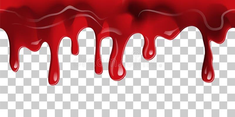 流动的血液边界 向量例证