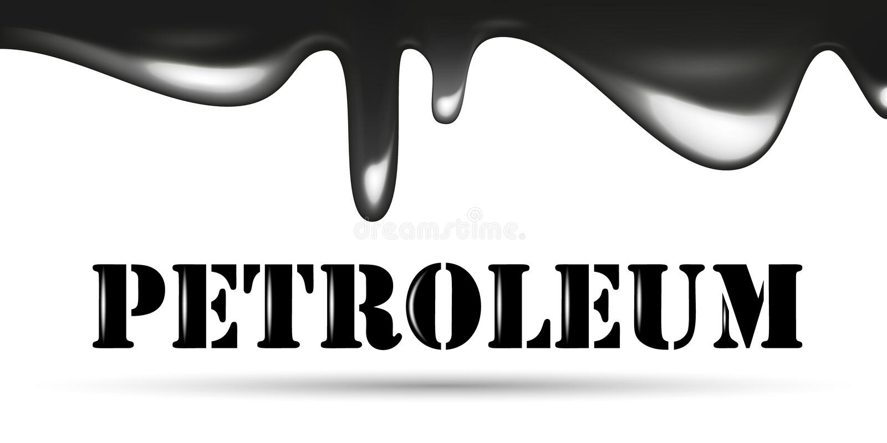 流动的黑油下落 石油公司略写法 石油词 向量例证