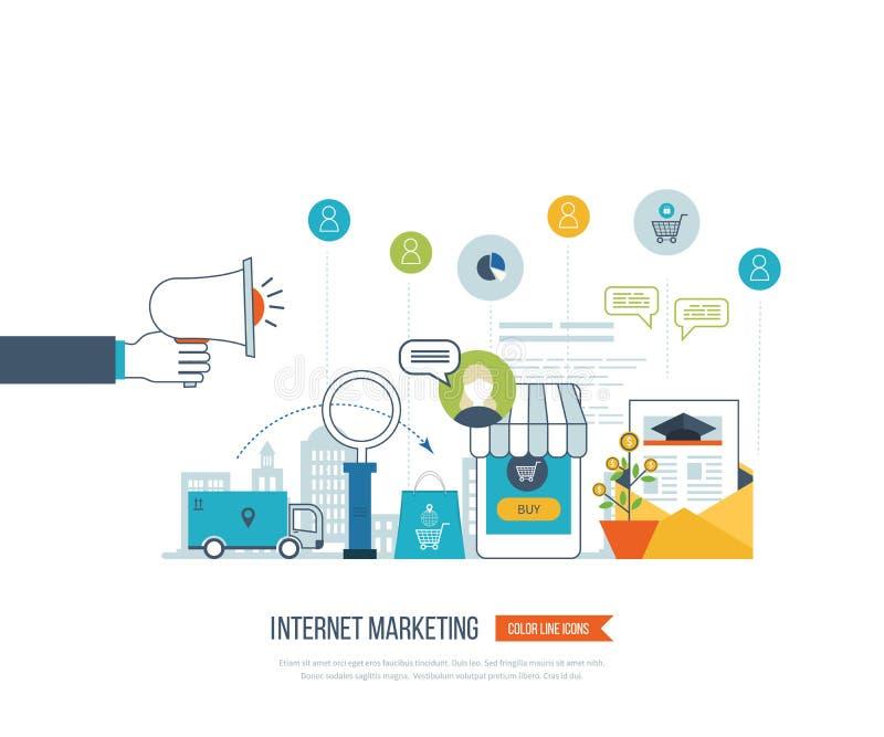 流动营销概念 拟订dof重点现有量在线浅购物非常 客户购物的超级市场 投资事务 发运 库存例证