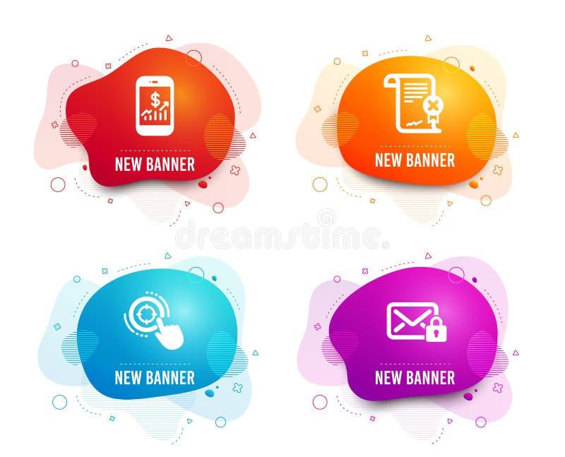 流动财务、废弃物证明和Seo目标象 安全邮件标志 ?? 皇族释放例证