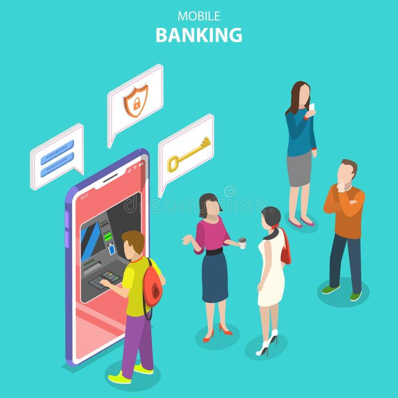 流动银行业务,被保护的金钱交易的等量平的传染媒介概念 皇族释放例证