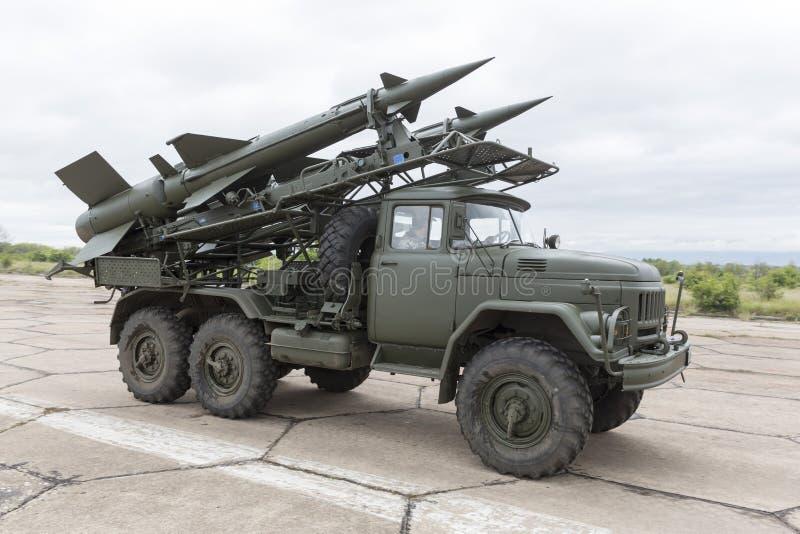 流动防空导弹复合体 免版税库存照片