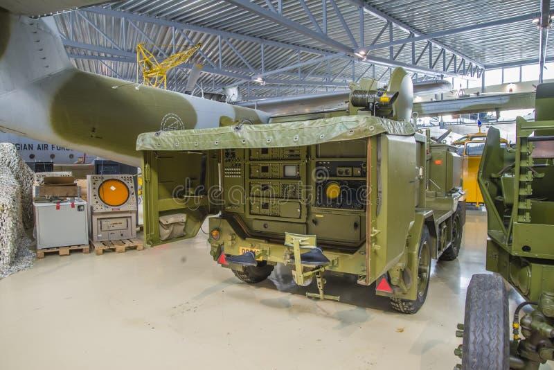 流动雷达和耐克导弹的跟踪系统 免版税库存图片